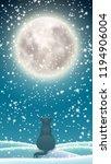 winter background for mobile... | Shutterstock .eps vector #1194906004