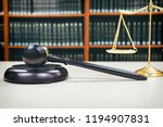 judge gavel with justice... | Shutterstock . vector #1194907831
