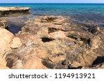 stony mediterranean coast in... | Shutterstock . vector #1194913921