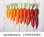 delicious color carrot on the... | Shutterstock . vector #1194915304