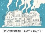 winter greeting card  hand... | Shutterstock .eps vector #1194916747