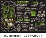 organic menu template for... | Shutterstock .eps vector #1194925174