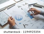graphic designer drawing sketch ... | Shutterstock . vector #1194925354
