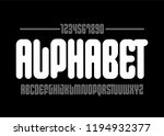 modern font. simple type face.... | Shutterstock .eps vector #1194932377