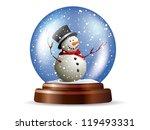 snowglobe with snowman   Shutterstock .eps vector #119493331