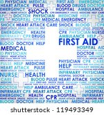 first aid sign   word cloud... | Shutterstock . vector #119493349