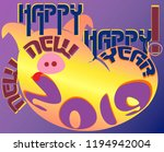 happy new year congratulations... | Shutterstock .eps vector #1194942004