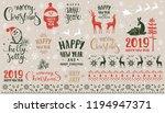 amazing set for merry christmas ... | Shutterstock .eps vector #1194947371