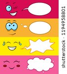 cartoon smiles with funny... | Shutterstock .eps vector #1194958801