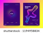 electronic music party poster... | Shutterstock .eps vector #1194958834