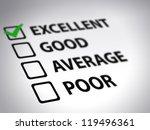 evaluation form   excellent.... | Shutterstock . vector #119496361