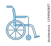 wheelchair color icon. invalid... | Shutterstock .eps vector #1194965857