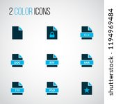 file icons colored set with... | Shutterstock .eps vector #1194969484