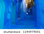 tourist in morocco  chefchaouen ... | Shutterstock . vector #1194979051
