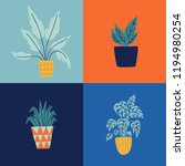 seamless pattern with garden... | Shutterstock .eps vector #1194980254