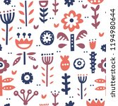 seamless pattern with...   Shutterstock .eps vector #1194980644