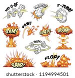 comic colorful explosive... | Shutterstock .eps vector #1194994501