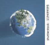 earth with trees and clouds | Shutterstock . vector #119499595