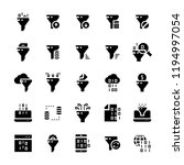 filter data icon set in flat... | Shutterstock . vector #1194997054
