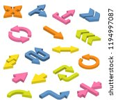 set of isometric arrows. | Shutterstock . vector #1194997087