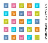 locks icon set in flat style... | Shutterstock . vector #1194997171