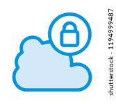 lock bubble cloud   | Shutterstock .eps vector #1194999487
