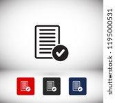 document tick vector icon | Shutterstock .eps vector #1195000531