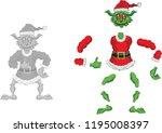 Green Ogre In Christmas For...