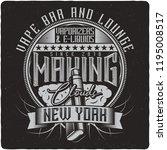 vaping vintage label logo with... | Shutterstock .eps vector #1195008517