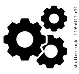 gears in engagement giving... | Shutterstock .eps vector #1195011541