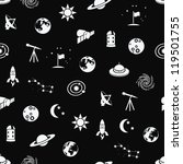 seamless space patter | Shutterstock .eps vector #119501755
