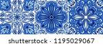 portuguese azulejo ceramic tile ... | Shutterstock .eps vector #1195029067