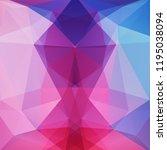 geometric pattern  polygon... | Shutterstock .eps vector #1195038094