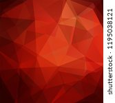 abstract geometric style red ... | Shutterstock .eps vector #1195038121