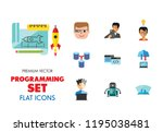 programming icon set. robot... | Shutterstock .eps vector #1195038481
