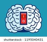 brain power switch  turned on... | Shutterstock .eps vector #1195040431