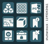 contains such icons as cubes ... | Shutterstock .eps vector #1195043461