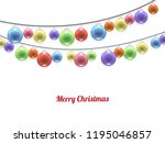 realistic pastel colorful merry ... | Shutterstock .eps vector #1195046857