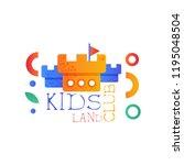 kids land club logo original ... | Shutterstock .eps vector #1195048504