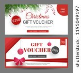 gift voucher or coupon with... | Shutterstock .eps vector #1195049197