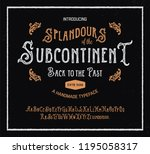 retro styled antique font.... | Shutterstock .eps vector #1195058317