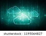 2d rendering cloud computing | Shutterstock . vector #1195064827