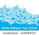 environmental banner plastic... | Shutterstock .eps vector #1195069147