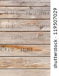old wood texture with printed... | Shutterstock . vector #119507029