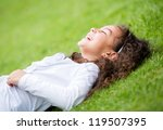 cute little girl having fun... | Shutterstock . vector #119507395