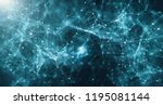 concept of network. abstract... | Shutterstock . vector #1195081144