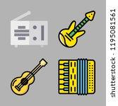 acoustic icon set. vector set...   Shutterstock .eps vector #1195081561