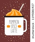 illustration of the mug with... | Shutterstock .eps vector #1195081927