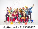 celebrating new year together... | Shutterstock . vector #1195082887