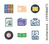 id icon set. vector set about... | Shutterstock .eps vector #1195086871